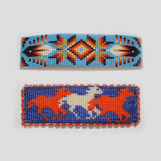 Picture of NATIVE AMERICAN NAVAJO INDIAN BEADED BARRETTE 45