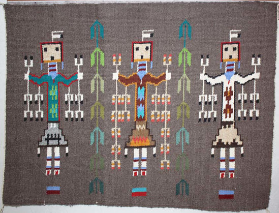 Picture of Yei Navajo Rug AB