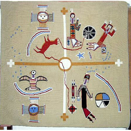 Picture for category Sandpainting Style Navajo Rugs