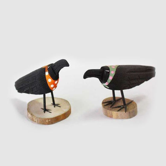 Picture of FOLK ART CROW 60